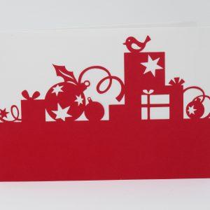 Carte jolis cadeaux rouge 1