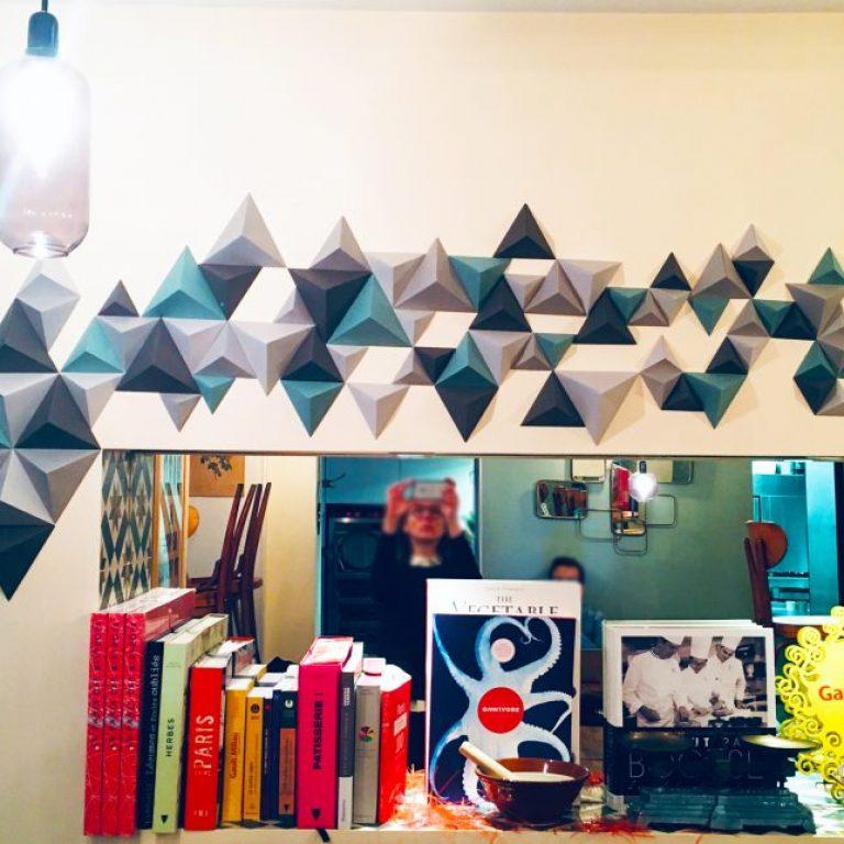 Fresque pyramides 3D en papier